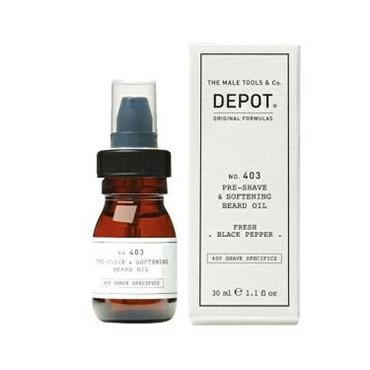 DEPOT 403 PRE-SHAVE&SOFTENING BEARD OIL BLACK PEPPER 30ML