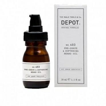 DEPOT 403 PRE-SHAVE&SOFTENING BEARD OIL SWEET ALMOND 30ML