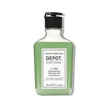 DEPOT 406 TRANSPARENT SHAVING GEL BRUSHLESS 100ML